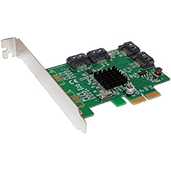 Carte Controleur PCI EXPRESS (PCI-E) – 4 PORTS SATA 3 (SATA III) RAID 0 et RAID 1 et RAID 10 - CHIPSET MARVELL 88SE9230 par COMPUTER DISTRICT.