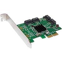 Carte Controleur PCI EXPRESS (PCI-E) – 4 PORTS SATA 3 (SATA III) - CHIPSET MARVELL 88SE9215 par COMPUTER DISTRICT.