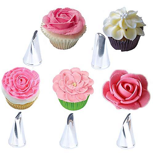 FADACAI 10 stücke Rosenblatt Icing Piping Düsen Metall Creme Tipps Kuchen Dekorieren Tool Zuckerglasur-friedliche Düsen Kuchen-tipp