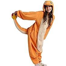 Charmander Hombres Adultos mujeres Unisex Animal Pijama Kigurumi traje de Cosplay traje de pijama Nonopnd Nightclothes Onesies barato de halloween traje ropa, L (172 cm-180 cm)