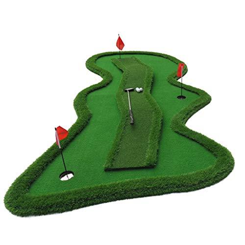Hyzb Golf-Übungs-Grün mit Steigung-Wende-Punkt, Mini-Innenball-Matten-Praxis-Decke