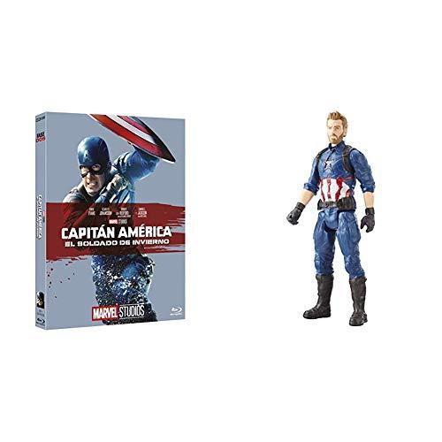 MARVEL 10º BD CAPI AMERICA SOLDIER INV + Marvel Figure Titan Hero Series Infinity War, Captain America (Hasbro E1421EU4)