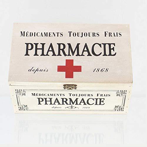 41x8rOhrEnL - SIDCO Medicinal Buzón Madera Botiquín Primeros Auxilios Box Clayre & Eef Casa Decorativa Almacenamiento