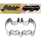 3Pcs en acier inoxydable Batman Emporte-pièce Moule à gâteau Halloween Décorations de Noël Biscuit Moule à gâteau de cuisine de fournitures