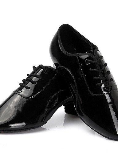 ShangYi Chaussures de danse ( Noir ) - Non Personnalisables - Talon Bottier - Similicuir - Latine Black