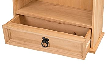 Mercers Furniture Corona 1-drawer Bookcase & Dvd Storage Rack - Pine 2