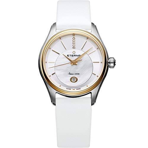 Eterna Women's Satin Band Steel Case Automatic Analog Watch 2940-53-61-1356