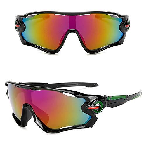 BAIYA PC Explosionssicher Männer Und Frauen Sport Sonnenbrillen, Bunt Winddicht Gläser, Im Freien Reiten Sonnenbrillen, Skifahren PC-Diskette 5 Stück