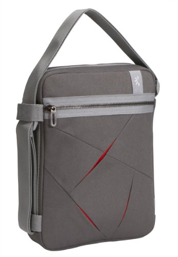 "Preisvergleich Produktbild Netbook-Tasche Nylon grau/rot 10,2"""
