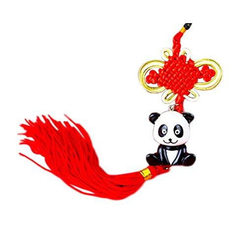 Creative-Knoten Quaste Panda Shaped hängen Dekor für Auto, D