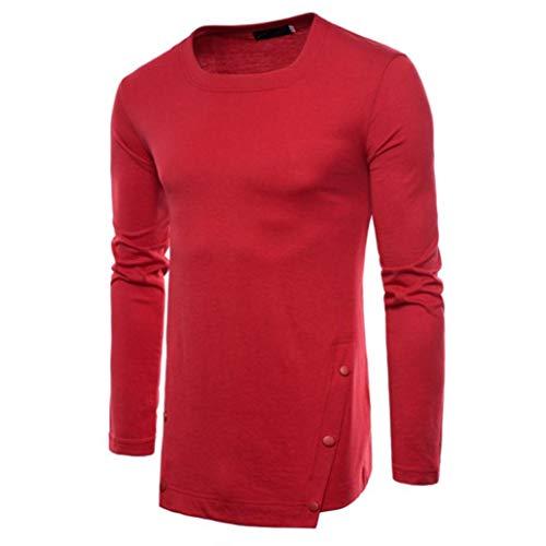 CICIYONER Top Bluse für Männer, Herren Herbst Rein Farbe Joint Lange Ärmellos Kapuzenpullover Sweatshirts Oben Bluse