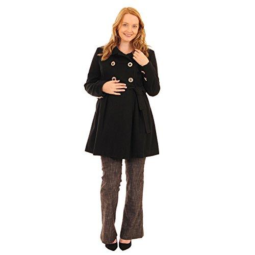 Dufflecoat Umstandsmantel schwarz