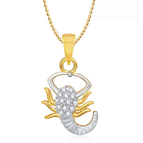 Valentine Gifts Meenaz Zodiac Power pendant scorpio Astrology pendant horoscope with chain PS286