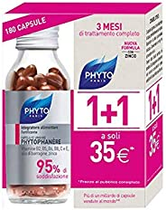Phyto Phytophanere Integratore Alimentare Naturale Fortificante per Capelli e Unghie, dona Forza, Crescita e Volume, Senza S
