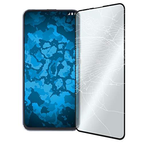 PhoneNatic 1 x Glas-Folie klar Full-Screen schwarz kompatibel mit Huawei Honor Magic 2 - Panzerglas für Honor Magic 2