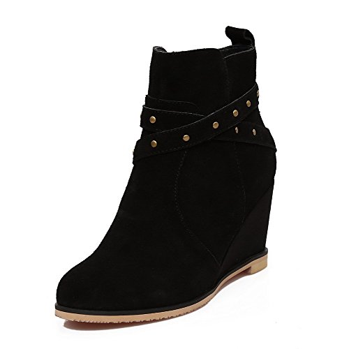voguezone009-womens-cow-imitated-suede-high-heels-round-closed-toe-low-top-boots-black-rivet-40