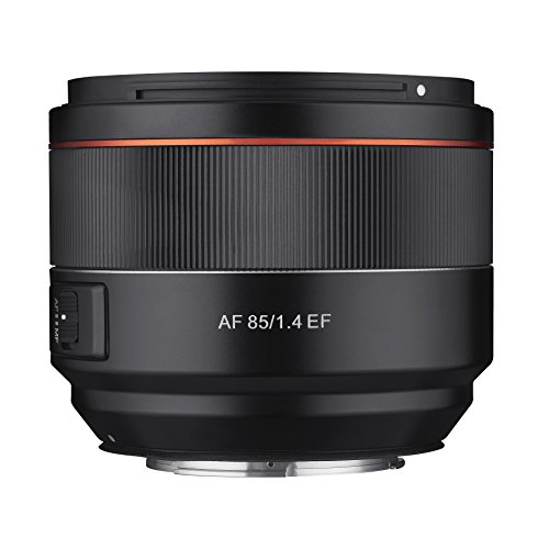 Samyang SYA8CA Lente AF 85 mm F1.4 per Canon EF, Nero