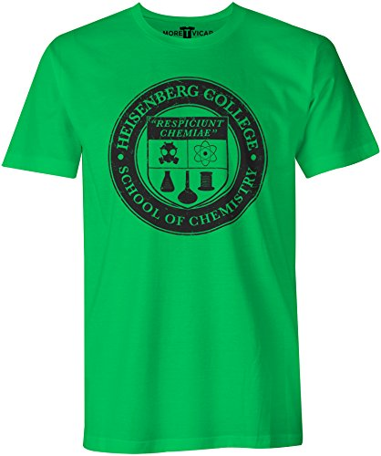 "Heisenberg College - Herren ""Breaking Bad"" Slogan T Shirt Irisch Grün"