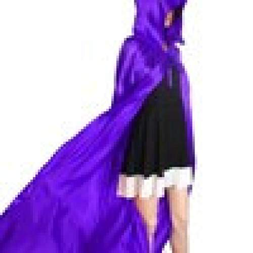 uze Kapuze Mantel Mantel Wicca Robe Mittelalterliche Cape Schal Halloween Mittelalterliche Party Vampir Kostüm Umhang Lange Goth Hexe Wicca Magier Hexe Mantel(Lila,s) ()
