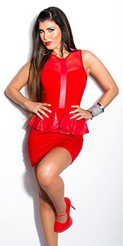 In-Stylefashion - Robe - Femme Beige Beige Rouge - Rouge