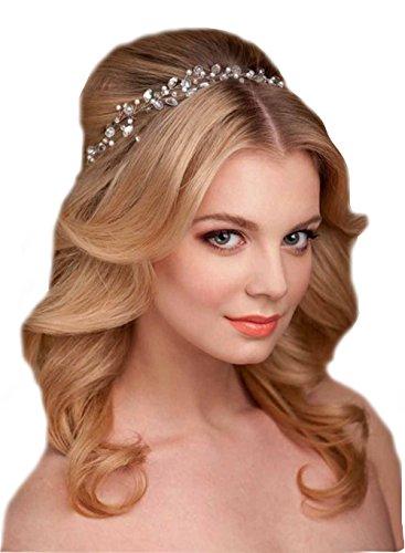 Haarkette Flechtfrisur Flechten Hochzeit Perlen Haarschmuck Kette Haarband Braut Diadem Haargesteck