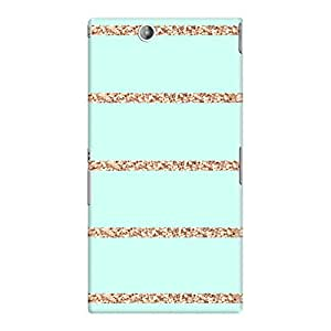 DailyObjects Glitter Stripes Mint Case For Sony Xperia Z Ultra