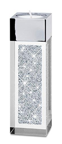 Moderno porta-lumino piccolo a pilone con cristalli swarovski elements / decorazione speciale o centrotavola