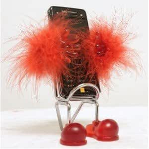 FUNKY FLUFFY RED CHAIR MOBILE PHONE HOLDER