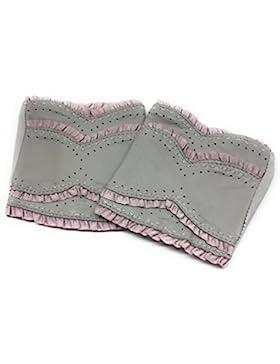 Roeckl fingerlose Trachten Handschuhe beiges Leder Sweet Ruffle Größe 6,5