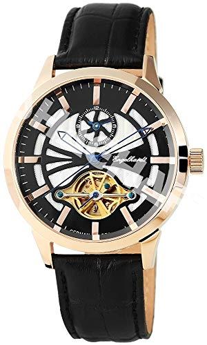 Engelhardt Herren Analog Mechanik Uhr mit Leder Armband 388931029007