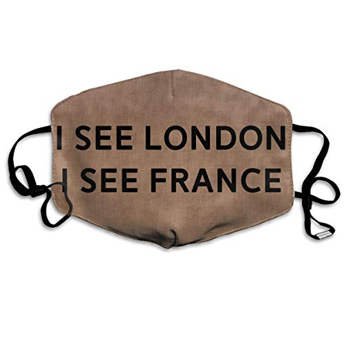 Mouth Mask I See London I See France Vintage Earloop Face Masks - Adjustable Elastic Band for Travel Cycling, Anti Bacteria Dustproof Respirator, Half Face Mouth Mask/Cover