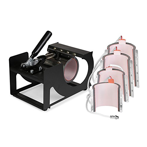 Lartuer Transferpresse Tassenpresse Cappresse T Shirtpresse Heat Press Machine 9 in 1 mit Einstellbarer Mehrfach federzug (9 in 1) - 6