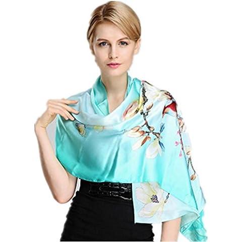 Alto gradas mujeres seda bufanda estilo étnico Vintage otoño y el invierno cálido chal , c