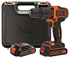 BLACK+DECKER BDCHD18KB-QW - Taladro percutor 18V, 40 Nm, con 2...