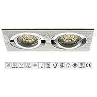 Vivalux estilo doble sl622al/sl622B luz empotrado en techo en aluminio extruido uso LED integrado de techo de 12V GX5,3plata IP 20para salón o dormitorio cocina...