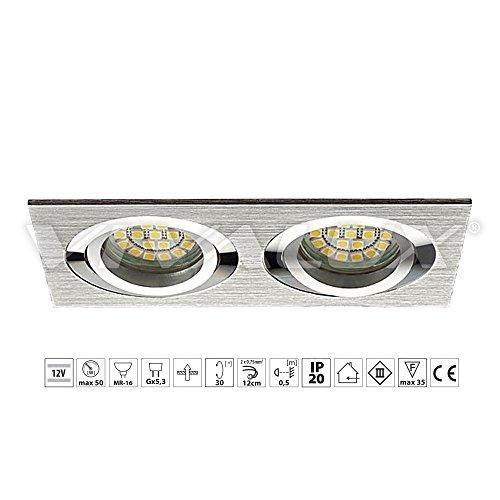 Vivalux estilo doble sl622al/sl622B luz empotrado en techo en aluminio extruido uso...