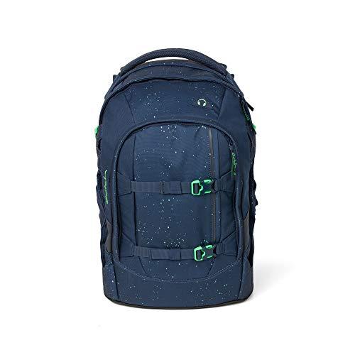 Satch Pack Space Race, ergonomischer Schulrucksack, 30 Liter, Organisationstalent, Blau/Grün -