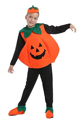 Kürbis - Kinder Halloween Kostüm - Medium - 140 cm