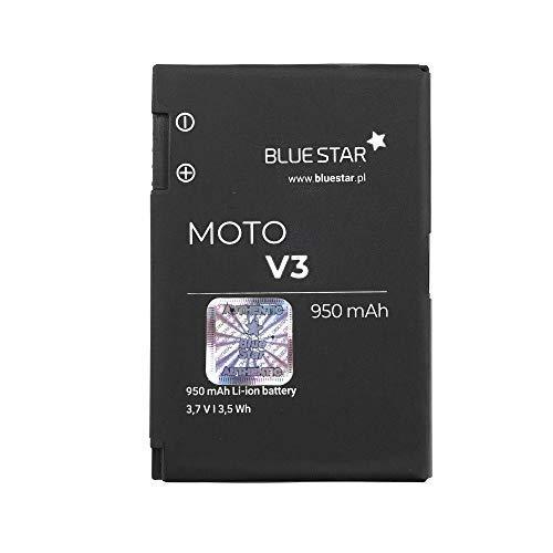 Bluestar Akku Ersatz kompatibel mit Motorola Razr V3 / V3i / Pebl U6 / V3c / V3XX / V3Z / V3T / V3IDG maxx V6 950 mAh Batterie Accu BR50 BR-50 Motorola Razr V3 Razor