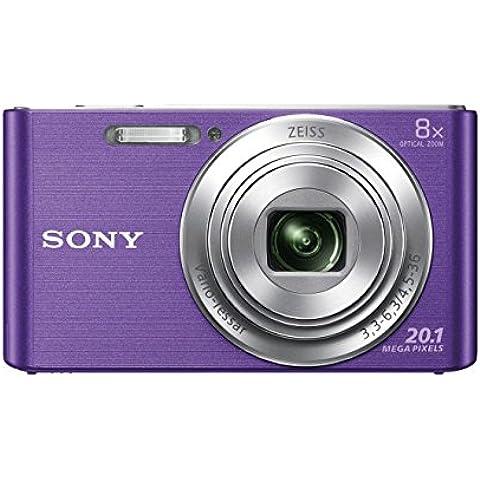 Sony DSC-W830 Fotocamera Digitale Compatta, Sensore Super HAD CCD da 20.1 MP, Obiettivo ZEISS Vario-Tessar, Viola