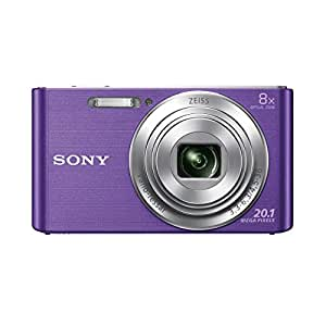 Sony DSCW830 Digital Compact Camera - Purple (20.1MP, 8x Optical Zoom) 2.7 Inch LCD