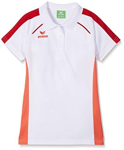 Erima Mädchen Masters Polo - weiß Shirt, hot Coral, 164 (Mädchen-mesh-polo)