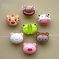 Prom-note Toothbrush Holder,Wall Mounted Suction Kids Toothbrush Holders/Covers,Antibacterial Toothbrush Cover Holder with Suction Cup-Cute cartoon animal shape