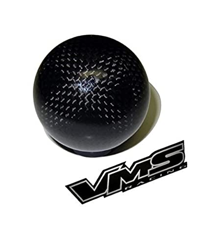 m12x1.75 THREADED (NO adapters) 5 speed 6 speed ROUND Ball Real Hand-Laid CARBON FIBER SHIFT KNOB Gear Shifter Selector Type-R Type-S for Ford Mustang 79 80 81 82 83 84 85 86 87 88 89 90 91 92 93 94 95 96 97 98 99 00 01 02 03 04 12x1.75mm