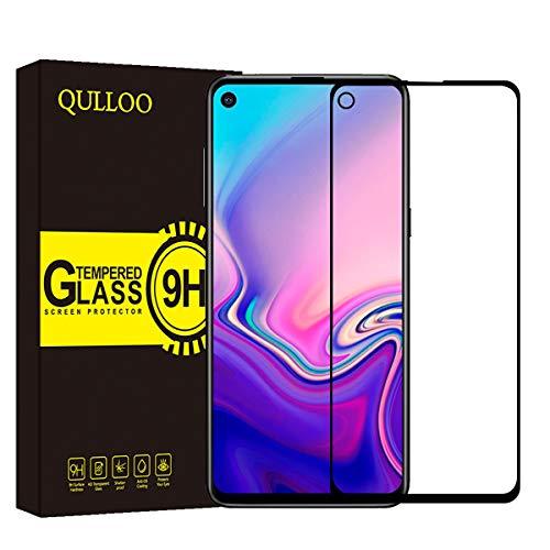 QULLOO Samsung Galaxy A8S Protection écran Verre Trempé, Protecteur Ecran 2.5D Couverture Complète Protection Film Vitre Haut Définition Anti-Rayures Screen Protector for Samsung Galaxy A8S