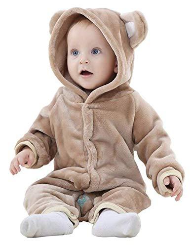 Baby Overall Kostüm Strampler Babyanzug Jumpsuit Spielanzug für Karneval Fasching Halloween Bär-Form