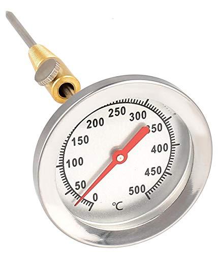 Lantelme 500 °C Grad Thermometer Edelstahl Backofen Grill Tandur Smoker Räucher Analog Bimetall Sonde 15 cm lang 4239