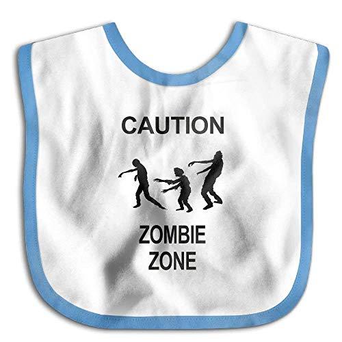 Caution Zombie Zone Funny Baby Bibs Burp Infant Drool Toddler Bibs Baby Infant Toddler Bib