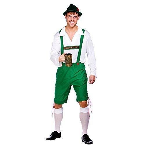 (L) Herren Oktoberfest Mann Kostüm für Deutsch Bayrisch Kostüm Herren Herren L