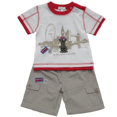 Baby-/Jungen-Kleidung 12–24Monate, 2er-Set, 3/4-Shorts, Touristen-Hunde-Druck, mehrfarbig